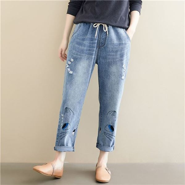 Picture of Woman High Waist Jeans