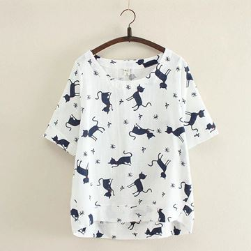 Picture of Woman Cat T-Shirt